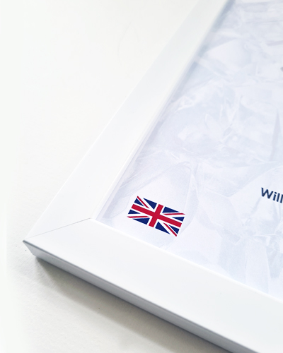 White 20mm polymer Penguin Frame