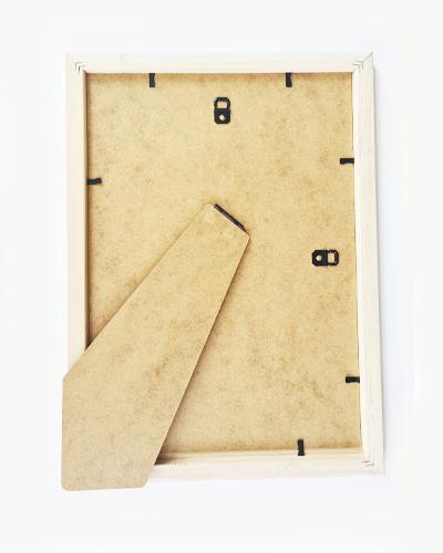White wood 20mm Penguin Frame
